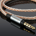 4 фута/6 футов, 7N, 8 ядер, 3,5 мм, обновленный OCC серебристый аудиокабель для Fostex T60RP, полуоткрытые, стандартные фазовые наушники