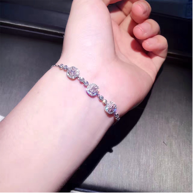 a948d4a6661a Aliexpress.com   Buy ANI 18K White Gold (AU750) Bracelet Certified 0.906  Carat H SI Natural Pink Diamond Jewelry for Women Romantic Birthday Gift  from ...