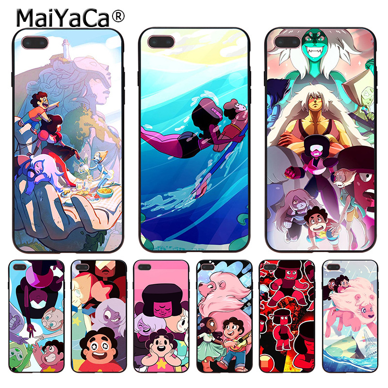 MaiYaCa Cartoon Steven Universe Coque Shell Phone Case for Apple iPhone 8 7 6 6S Plus X 5 5S SE