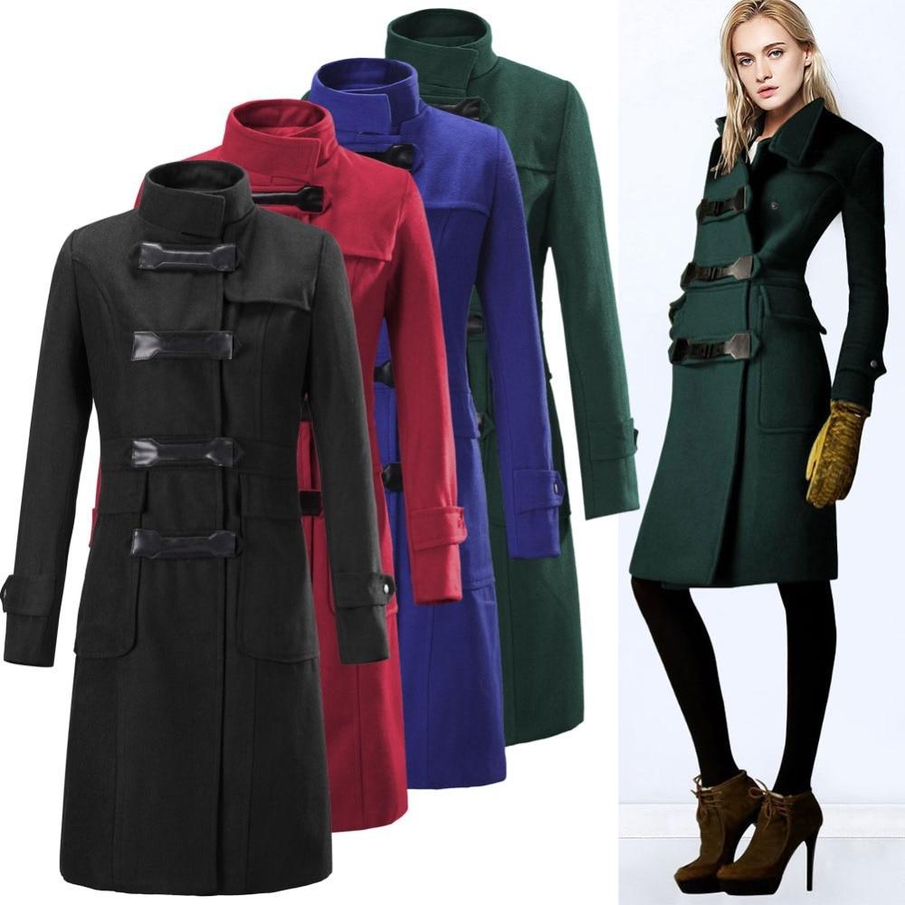 British Style Fashion Runway Vintage Wool Cashmere Long Coat ...