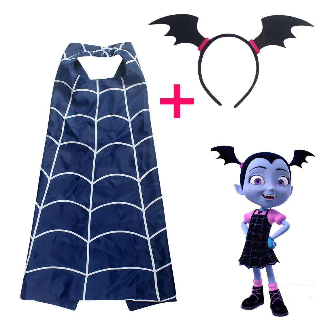 Vampirina Girls Cosplay Cartoon Cloak Cape Vampire Girl's Mask Headband Kids Party Christmas Gift Costumes Action Figure Toys