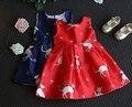 2-7Y new 2016 autumn girls cartoon vest dress girls new style princess dress girls spring summer vest dress