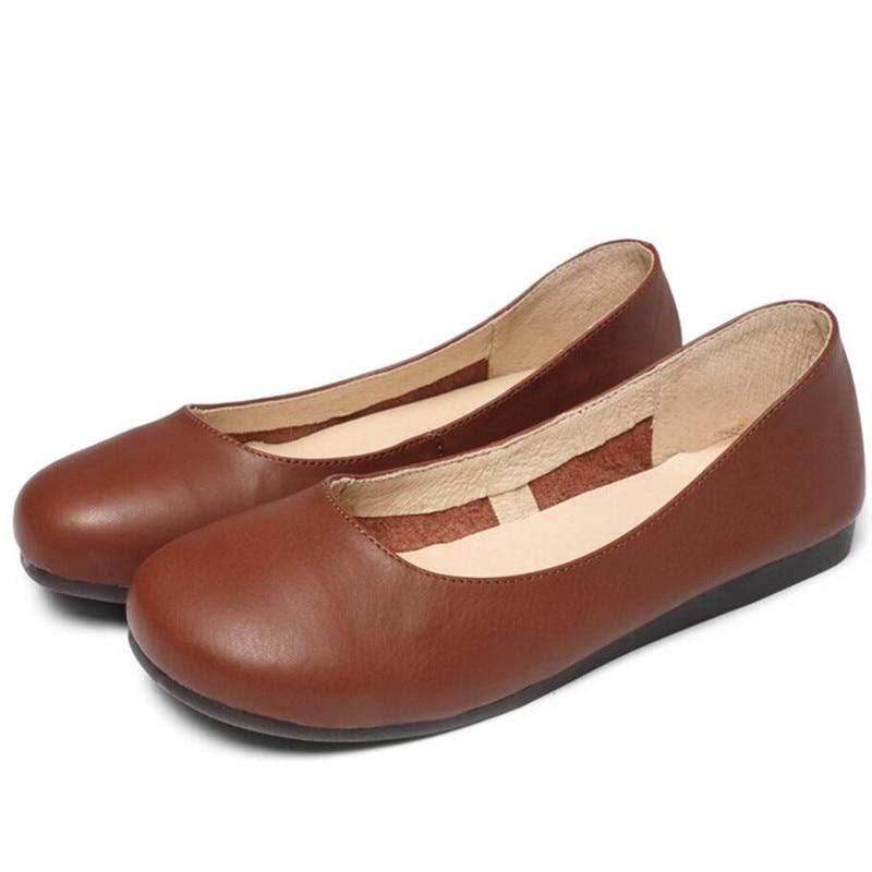 2018 Beige Cuir Printemps Plates 2 Casual Arrivée En Nouvelle Appartements Mode Whensinger Sneakers Chaussures Couleurs 3033 Femmes marron XPZiOku