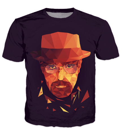 Newest style Mr Heisenberg breaking bad print 3d t shirt men/women harajuku swag funny t shirts summer casual tee tops camisetas