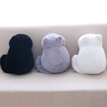 3 цвета Kawaii плюшевая задняя тень игрушки для кошек мягкий укомплектованный милый кот куклы, детский подарок кукла животные игрушки декораци... >> xiao T's store