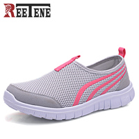 2018 Spring Summer Women Casual Air Mesh Breathable Sneakers Lightweight Soft Flats Shoes For Woman Big