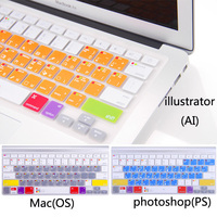 Ps Ai Os Shortcut Keys Silicone Soft Keyboard Cover Skin Sticker For Apple Macbook Air Pro
