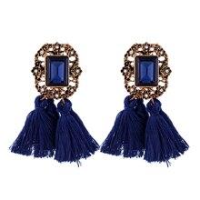 Sacred vintage Crystal Dangle Tassel Earrings