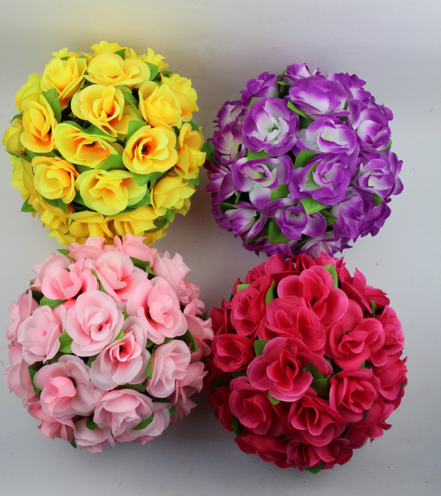 Scrapbooking 25cm Marriage Room Simulation Rose Ball Wedding Bouquet Props Decoration Items Like Decorative Flower In Artificial Dried Flowers