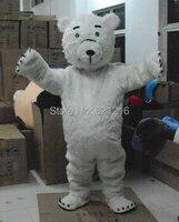 Maskot kostümleri çocuklar noel ve cadılar bayramı kıyafet fancy dress suit ücretsiz kargo beyaz ayı polar bear ice ayılar