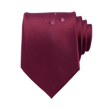Ricnais Quality Waterproof Silk Solid Necktie 8cm Tie For Business Wedding Mens Formal Red Green Black Ties Corbatas Fashion(China)