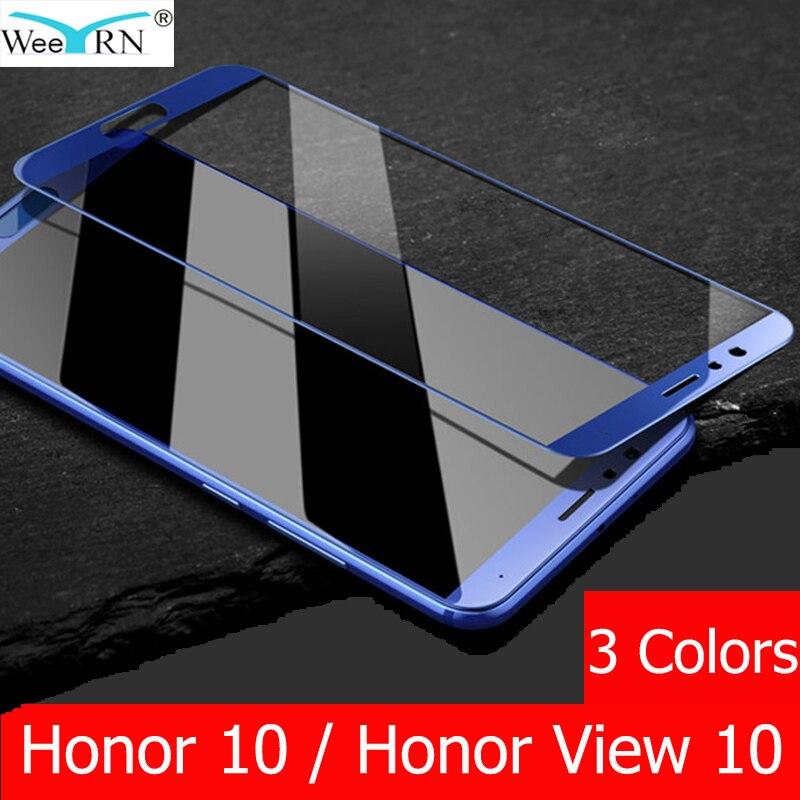 Film en verre trempé à couverture complète 9 H pour Huawei Honor 10/Honor View 10 protecteur d'écran pour Huawei Honor View 10 Glass