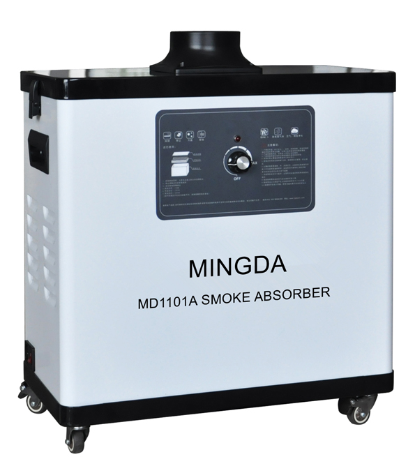Air Cleaning Smock Absorber 100W Single Tube Dust Smock Fume Extractor Good Quality MINGDA Laser Fume Absorber Machine frill hem smock skirt