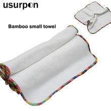 [Usurpon] 5 шт. в партии, детская ткань, бамбуковое волокно, маленькое полотенце, моющееся и очень мягкий детский бамбуковый квадратный салфетки, многоразовые