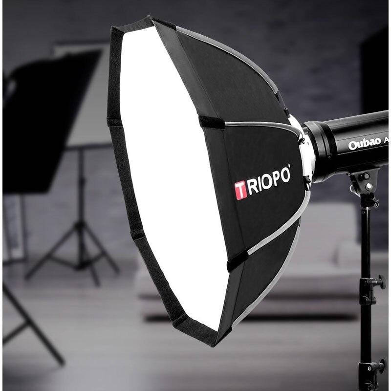 Triopo 65 cm Portable Monture Bowens Octogone Parapluie Softbox + Sac De Transport pour Studio Photo Flash Extérieur Photographie Boîte À Lumière