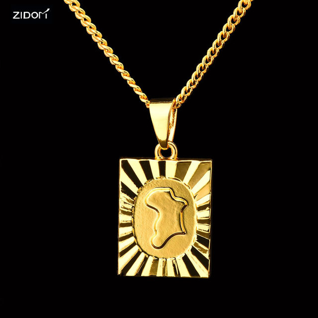 Gold silver color men map of africa pendant necklace hip hop 60cm gold silver color men map of africa pendant necklace hip hop 60cm long cuban link chain aloadofball Image collections