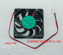 3pcs FAN FOR 6CM ADDA AD0605LX-D90 60X60X15mm 5V 0.21A Dahua DVR Fan VCR  2-wire 2-pin connector