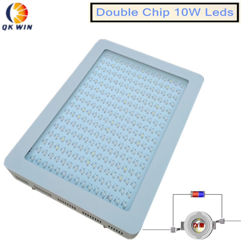 Qkwin LED grow light 600W/1000W/1600W/2400W double chip with on/off button Full Spectrum for Hydroponic Plants freeshipping best led grow light 600w 1000w full spectrum for indoor aquario hydroponic plants veg and bloom led grow light high yield