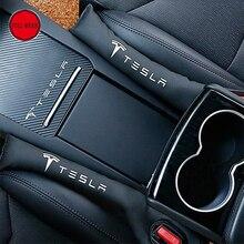 Автокресло щелевая разрыв Пробки полосы PU герметичные протектор Чехлы для Tesla модель s модель x автомобиль-Стайлинг подкладке украшения полоса