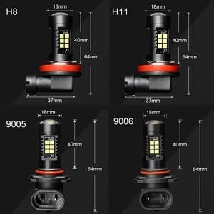 Image 5 - 2個H8 H11 led電球HB4 led電球HB3 9006 9005 smdライト1200LM 6000 18k 12 12vホワイト実行している駆動車のランプ自動車電球