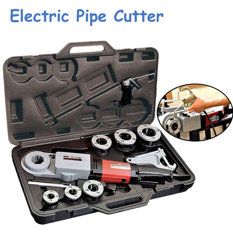2 Inch Handheld Electric Pipe Cutter Die Head Threading Machine Pipe Threader Cutting Machine SQ30-2B