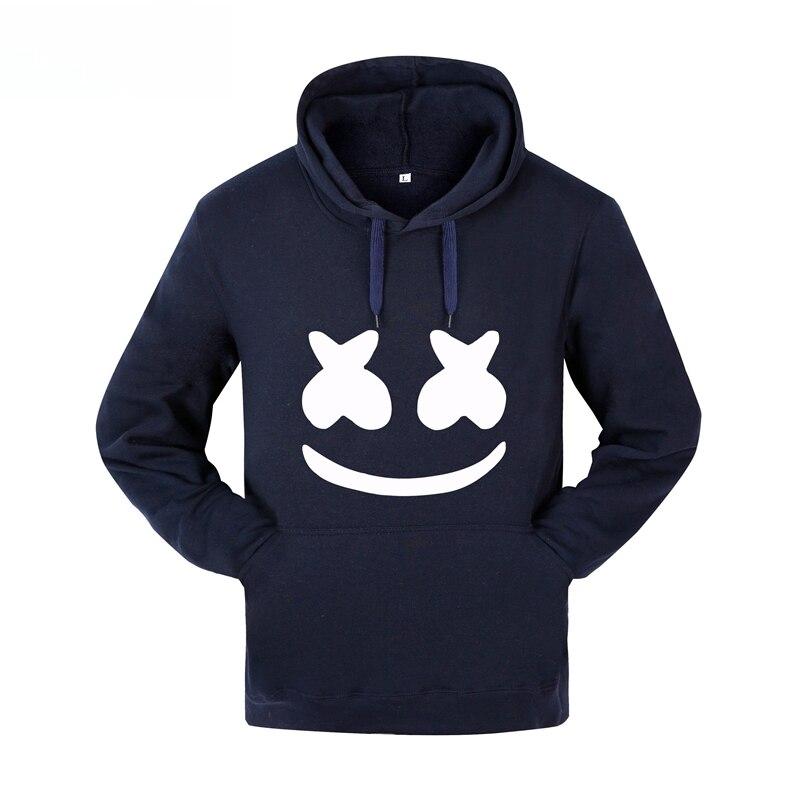 2018 Autumn winter New brand marshmello face Hoodies men Casual Hoodies Sweatshirt Sportswear Male Fleece Hooded Jacket