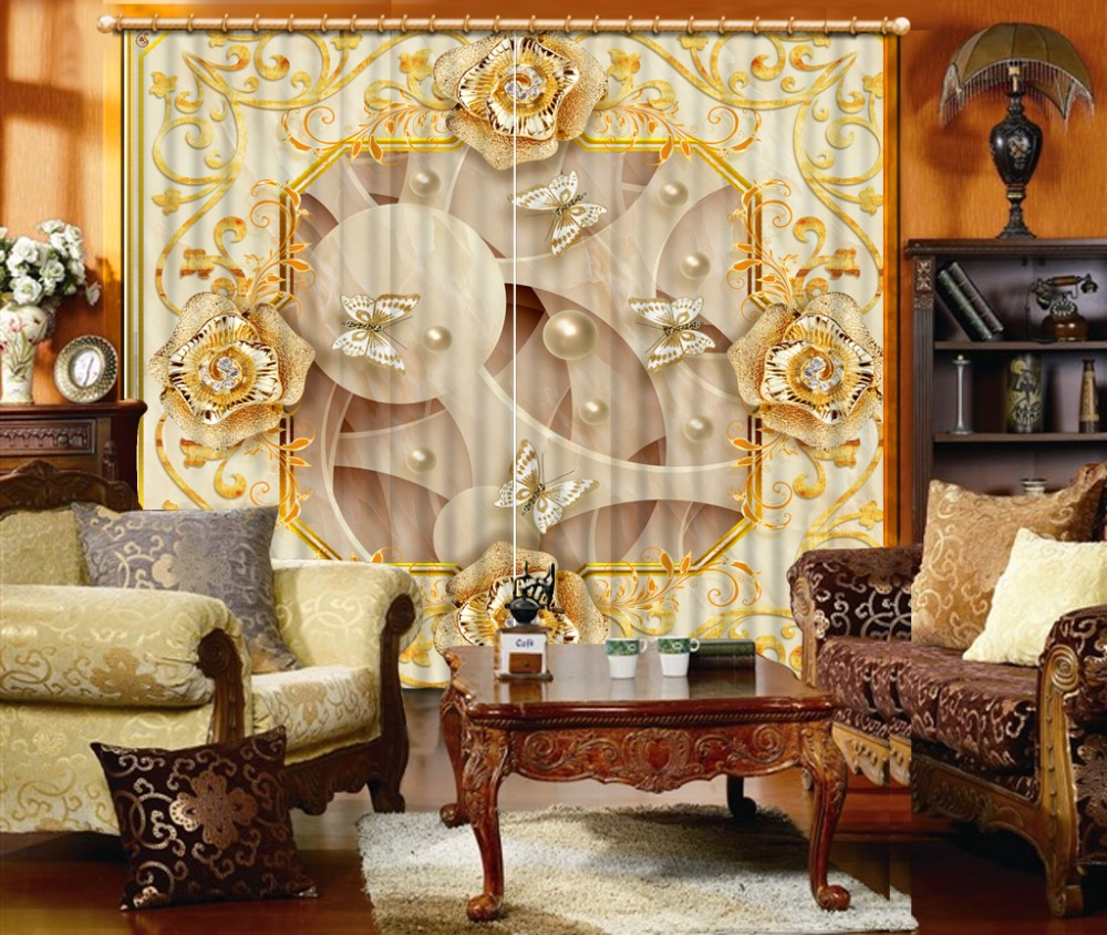 3D Embossed jewels flowers curtains for living room bedroom decoration wedding 3D curtains home decor   3D Embossed jewels flowers curtains for living room bedroom decoration wedding 3D curtains home decor