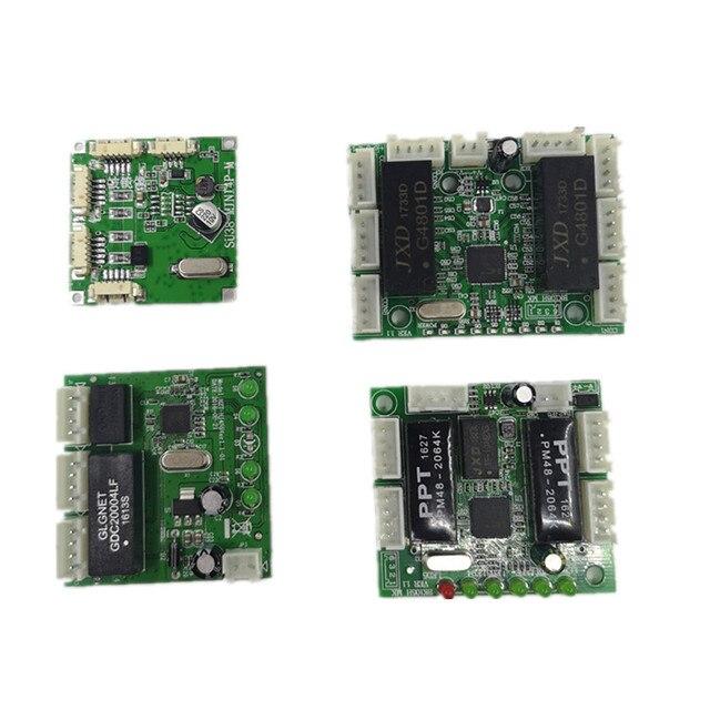 Mini projekt modułu przełącznik ethernet płytka drukowana ethernet moduł przełączający 10/100 mbps 5/8 port płytka obwodów drukowanych OEM płyta główna