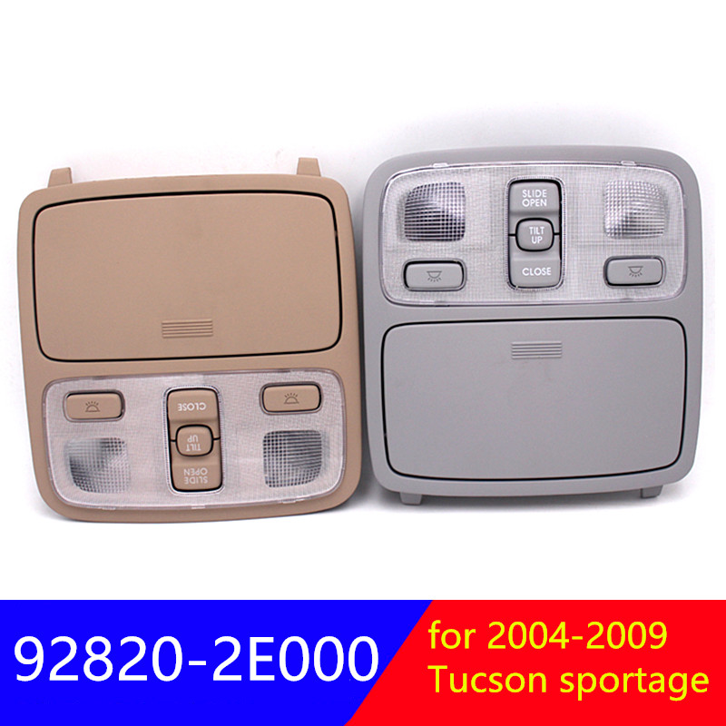 Beige Top control light and sunroof switch assembly Grey for Hyundai Tucson 2004 2009 for kia sportage 2004 2010 92820 2E000|Car Switches & Relays| |  - title=