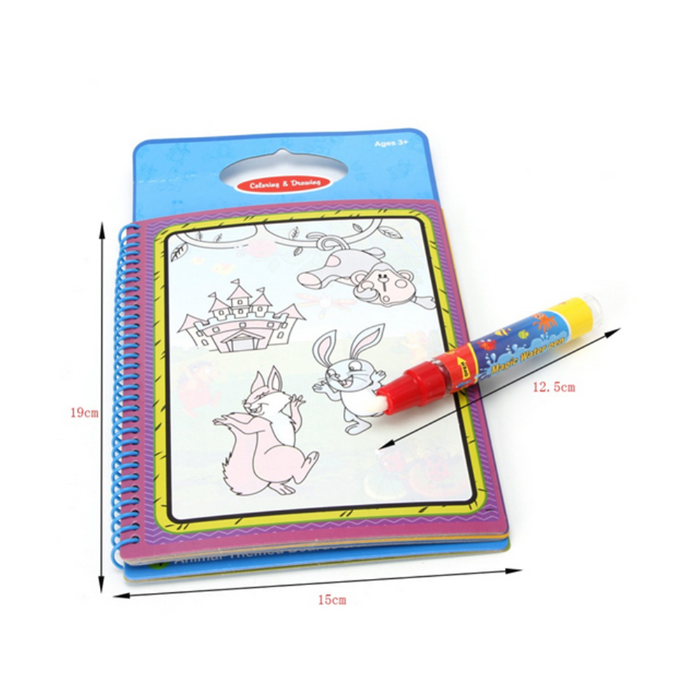 6 colores agua mágica del dibujo libro para colorear Libros Doodle ...