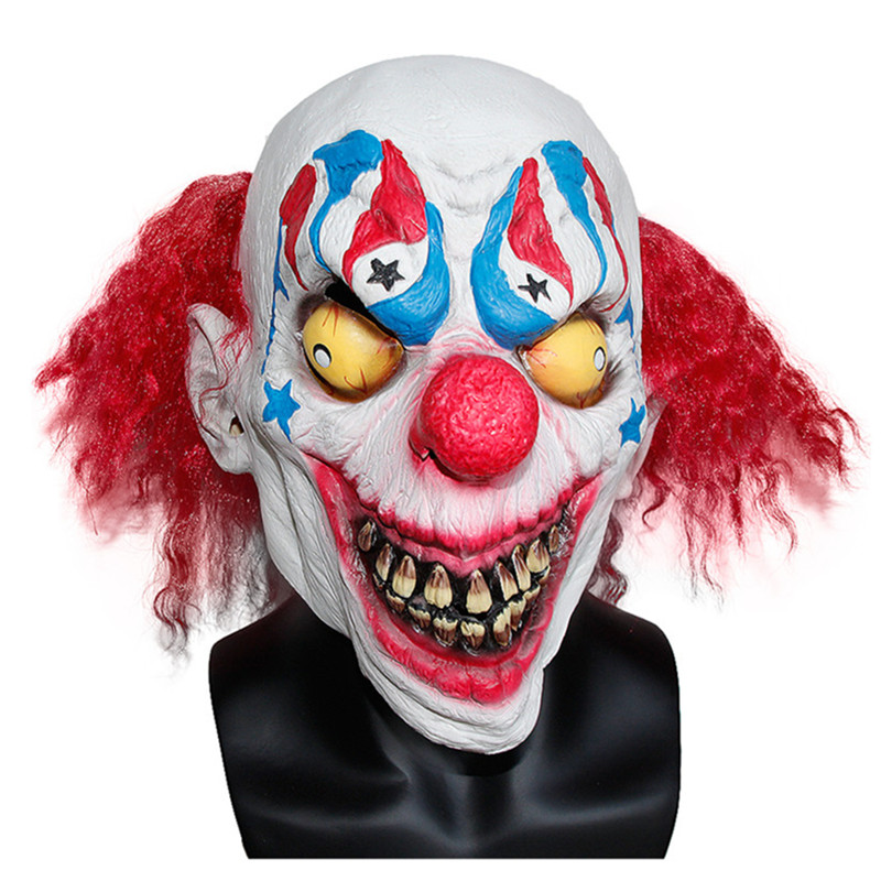 X MERRY TOY Halloween Festive Party Mask For Sale Full Face Carnival Clown Style Mask Latex