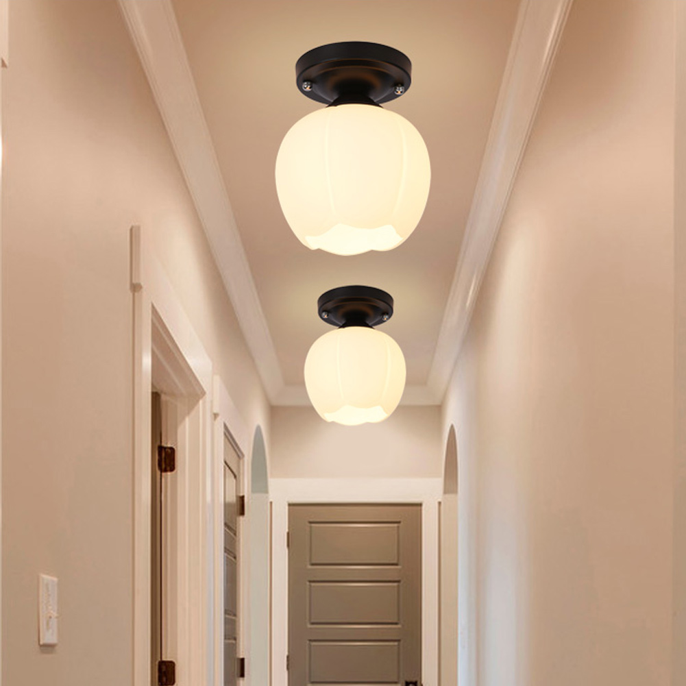 Modern led ceiling lights indoor lighting luminaria metal glass ceiling lamps for living room corridor foyer