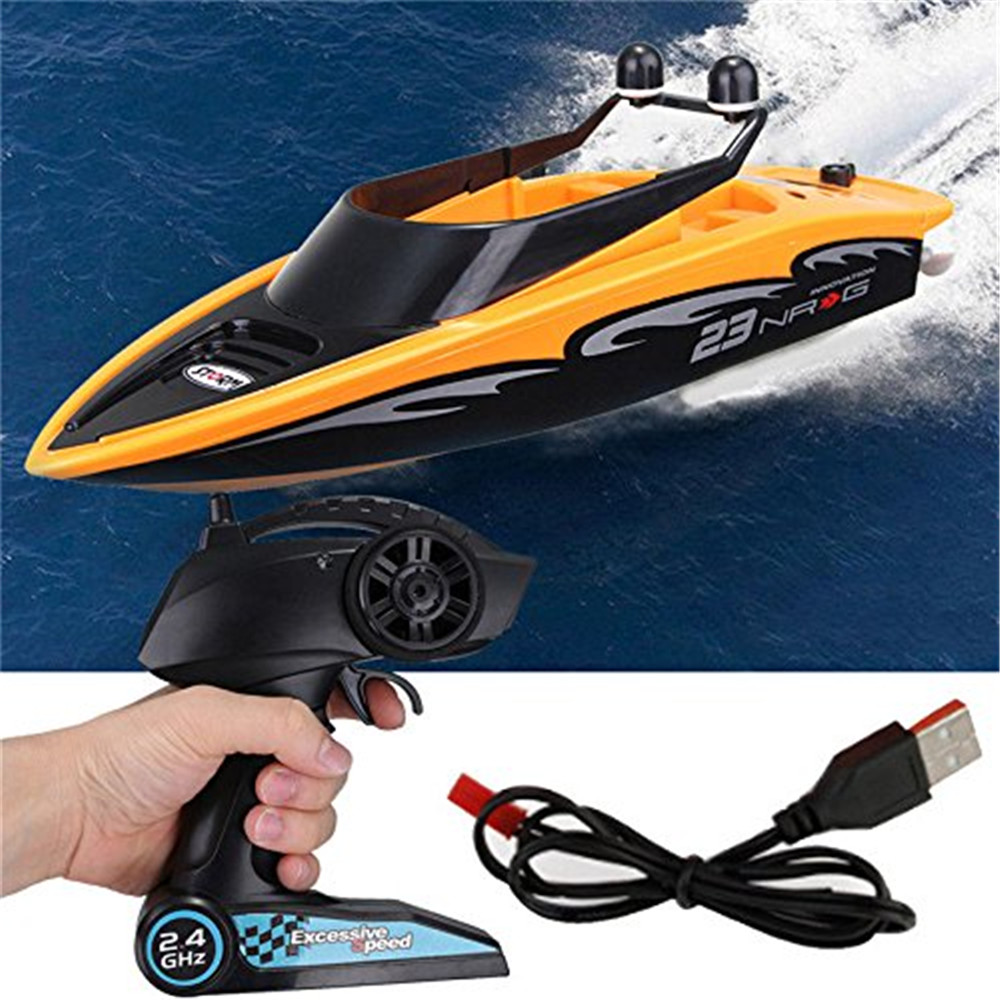 RC Boats High speed Radio remote control boat 2.4 GHZ 4 channel rowing electric toy children Electric racing speedboat Best Gift
