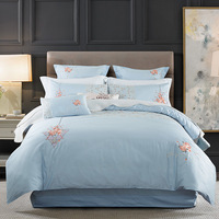2018 Egyptian Long staple cotton Embroidery Bedding Set .Duvet Cover Bed sheet Bed Linen Pillowcases. Colorful dream