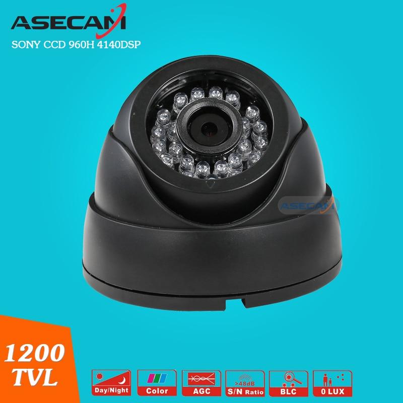 Home Sony CCD 960H Effio 1200TVL CCTV indoor Black Dome Analog Surveillance 24 infrared night vision Security Camera  цена и фото
