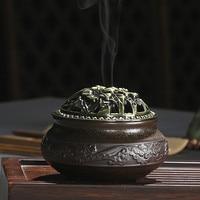 Ceramic censer indoor Buddhist tea ceremony yoga hall decorative ornaments