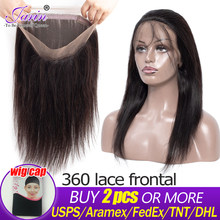 Brazilian Straight Hair 360 Lace Frontal Can Do Wigs 1pc Free Part Remy Human Hair Buy 2 PCS or More Fast Free Ship Lace Closure(China)
