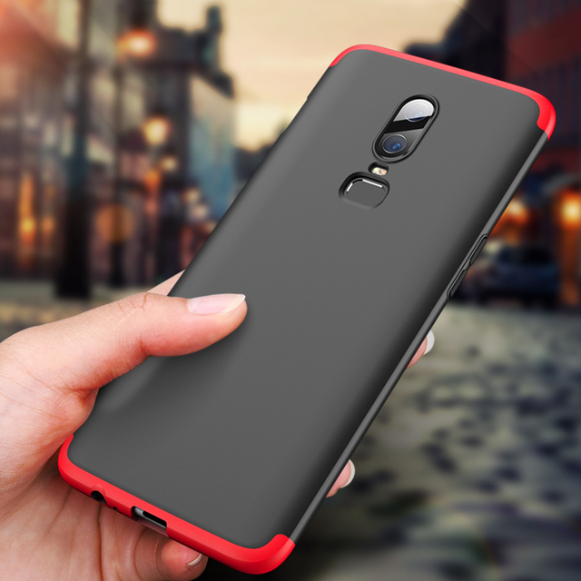 Lamocase Case for Oneplus 6 360 Full Protection Shockproof Matte Comfortable Feel Hard PC 3 In 1 for oneplus6 Cover Free Glass 1