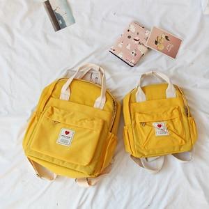 Image 4 - Mochila Ulzzang de Corea del Sur, bolso suave Ins para mujer, estudiante, Harajuku japonés, pequeña, color morado