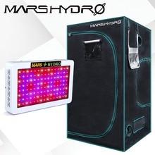 Mars Hydro 600W Led Grow Light Veg Flower Plant Full Spectrum+1680D 100x100x180cm Indoor Grow Tent Kit