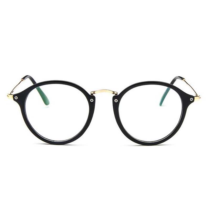 2018 Transparent round glasses clear frame Women Spectacle myopia Eyewear Men Eyeglasses Frame nerd anti blue ray optical frames in Men 39 s Eyewear Frames from Apparel Accessories