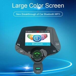 Image 3 - G24 HD Schermo a Colori Wireless Car Kit Bluetooth Lettore MP3 Le Chiamate in Vivavoce Trasmettitore FM Kit Per Auto supporto per il CONTROLLO di QUALITÀ 3.0 caricabatterie Rapido