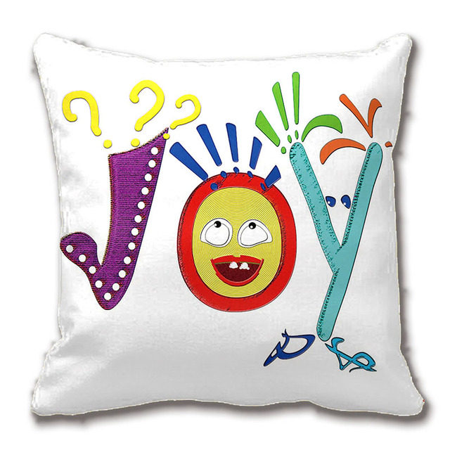 funny letters make up joy throw pillow case decorative cushion