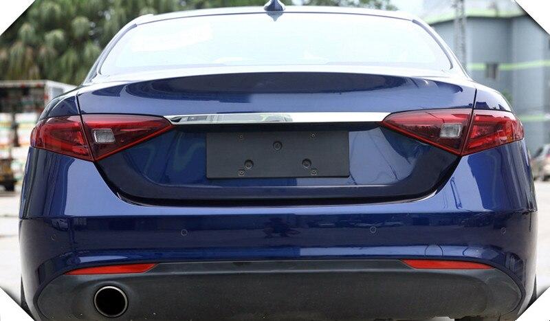 Нержавеющаясталь задний багажник хвост ворота Накладка и сзади загрузки ворота ниже MOLDING GARNISH для Alfa Romeo Giulia 2017 2018 доступа