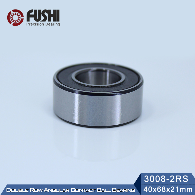 3008-2RS Bearing 40*68*21 mm ( 1 Pc ) 3008 2RS Double Row Sealed 3008 RS Angular Contact Ball Bearings psp 3008 в г ангарске магазины