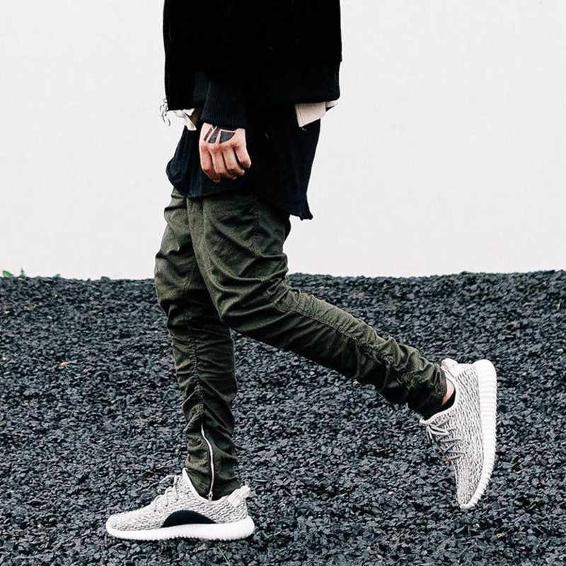 2019 new Casual Skinny Zipper Sweatpants Solid new Street fashion kanye west Hip Hop Trousers Men Joggers pants