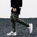 ArmArmy Зеленые Штаны Случайный Тощий Молния Штаны Твердые новый Уличная мода kanye west Хип-Хоп Брюки Мужчины Бегунов брюки