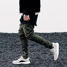 5646e78897c901 ArmArmy Green Pants Casual Skinny Zipper Sweatpants Solid new Street  fashion kanye west Hip Hop Trousers
