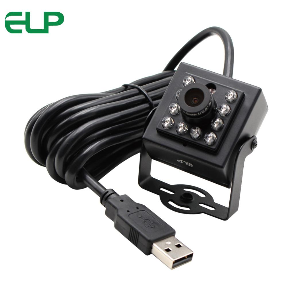2.0 Megapixel Security usb Camera MJPEG 30fps/60fps/120fps CCTV Full HD 1080P IR usb camera module with 6mm board lens