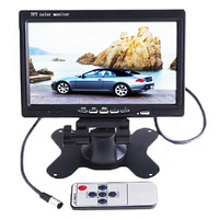 7 TFT LCD 2 Video Input Color Car Monitor 7 RearView Headrest DVD VCR Monitor for Backup Rearview Camera With IR Remote Control
